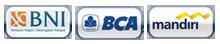 BCA, BNI, Mandiri